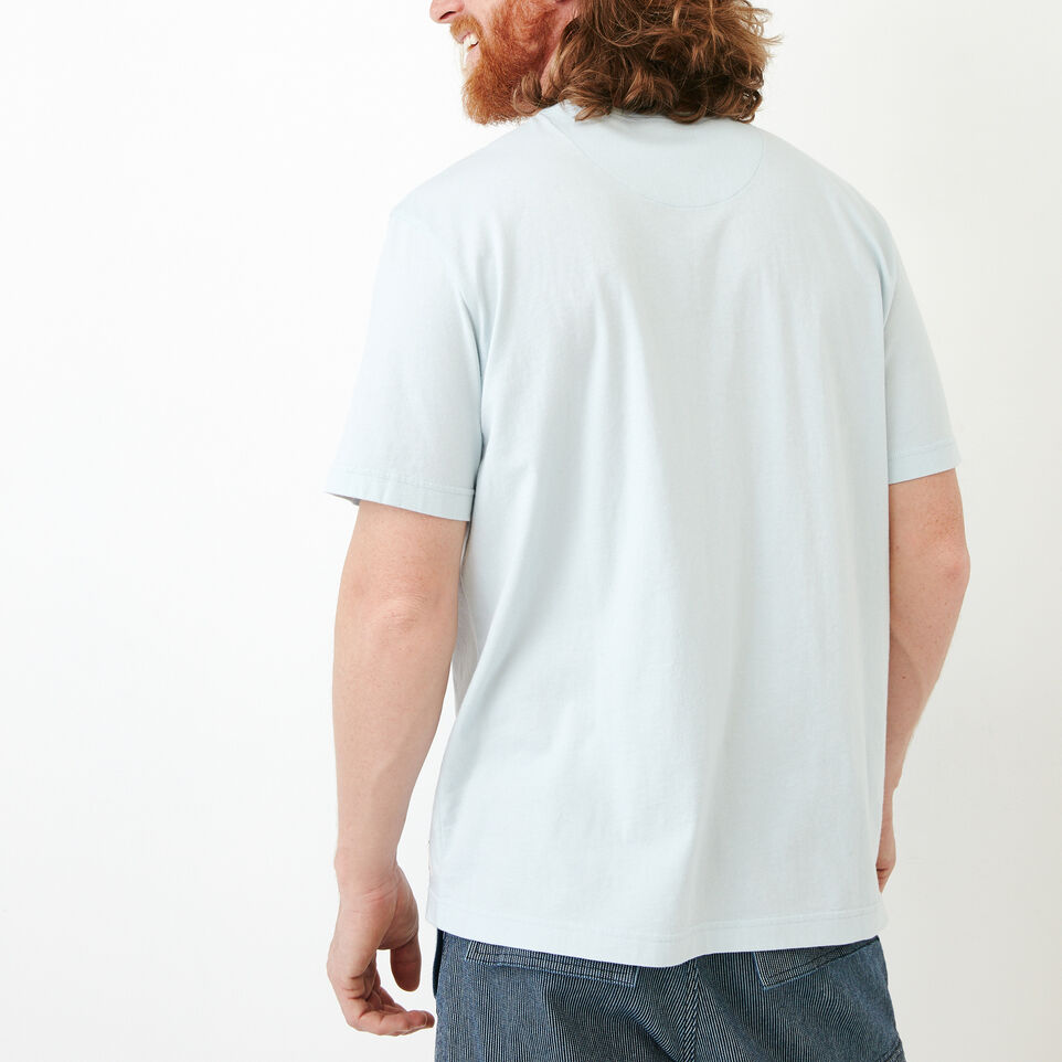 Roots-Men Our Favourite New Arrivals-Essential Pocket T-shirt-Baby Blue-D