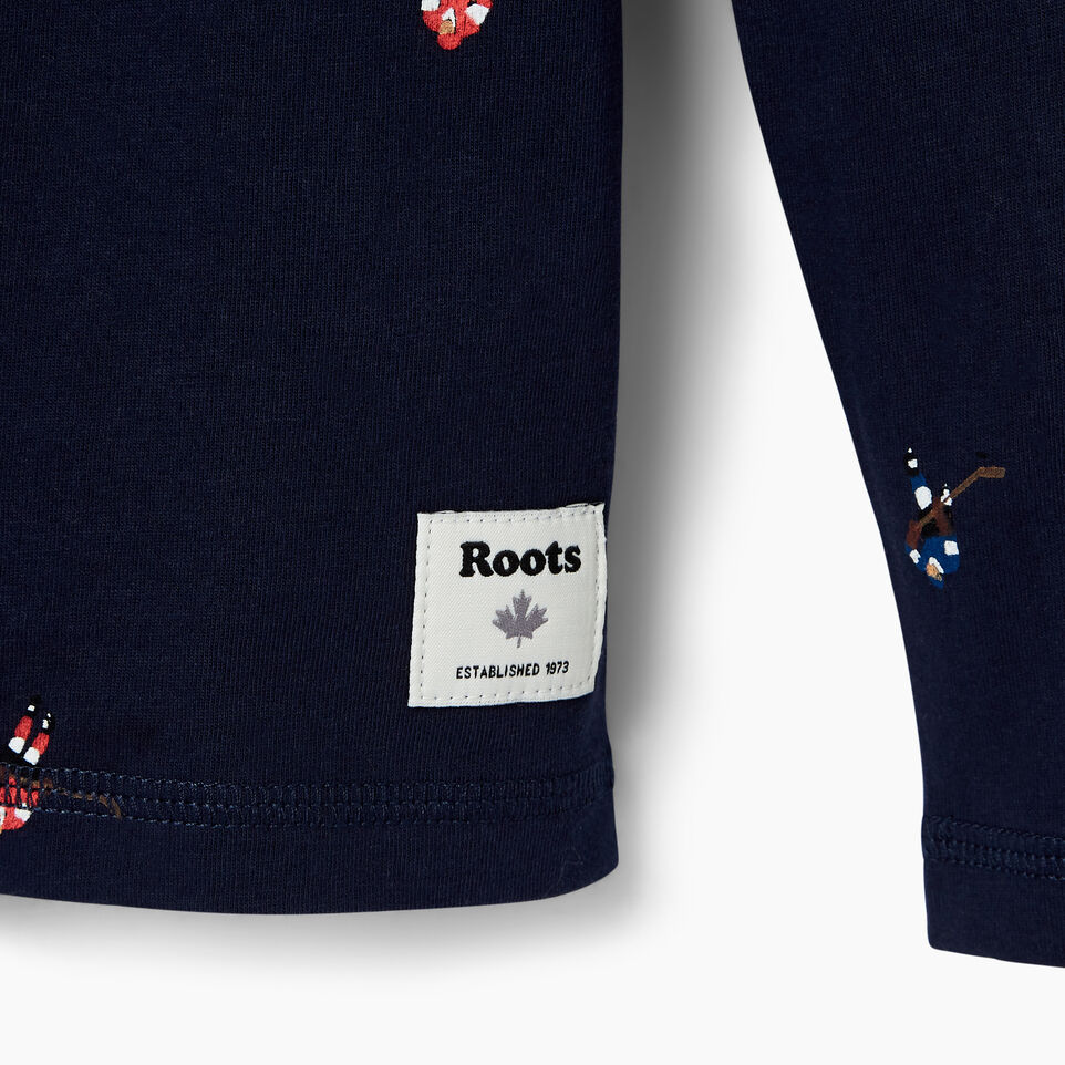 Roots-Kids Our Favourite New Arrivals-Boys Hockey AOP T-shirt-Cascade Blue-D
