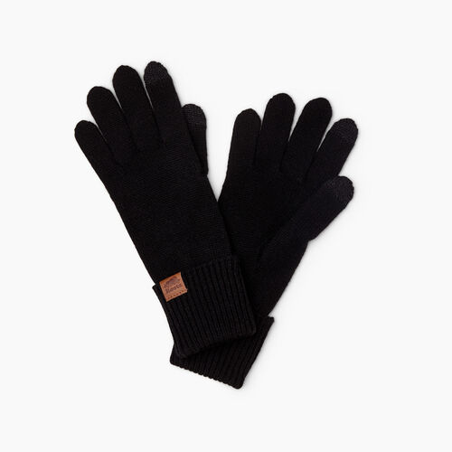 Roots-Women Gloves-Womens Texting Glove-Black-A