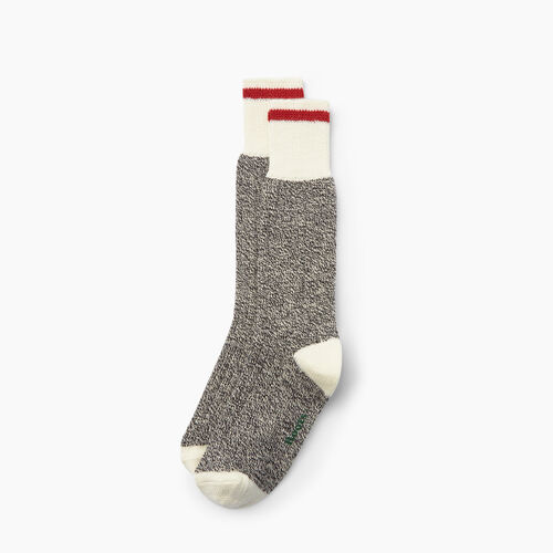 Roots-New For October Men-Roots Cabin Sock 2 Pack-Grey Oat Mix-A