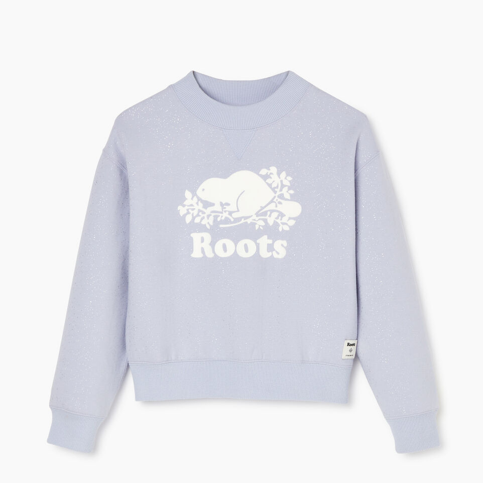 Roots-undefined-Girls Sparkle Cozy Sweatshirt-undefined-A