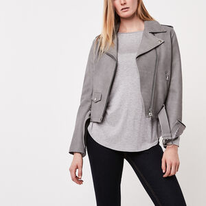 Roots-Women Long Sleeve Tops-Finlay Top-Grey Mix-A