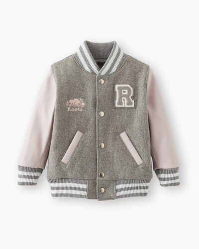 Roots-Leather Award Jackets-Toddler Girls Award Jacket-Quartz Pink-A