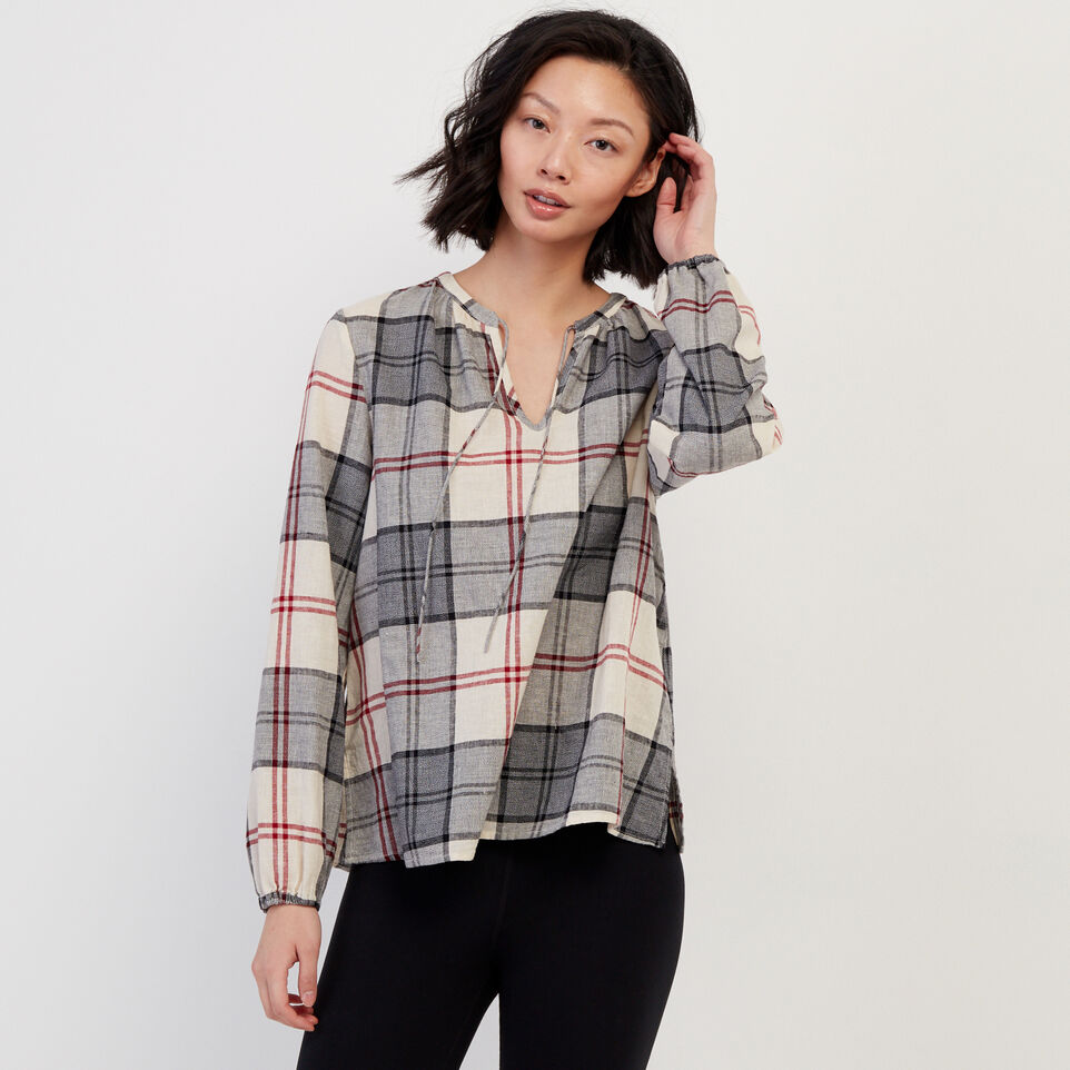 Roots-undefined-Smoke Lake Plaid Peasant Top-undefined-A