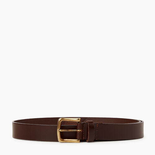 Roots-Leather Leather Accessories-Roots Mens Classic Belt-Brown-A