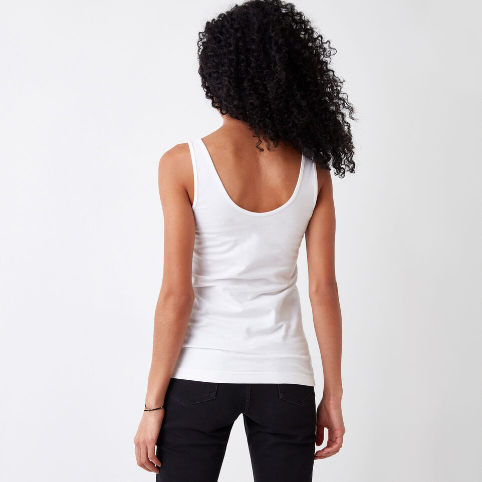 Roots-Women Our Favourite New Arrivals-Essential Tank-White-E