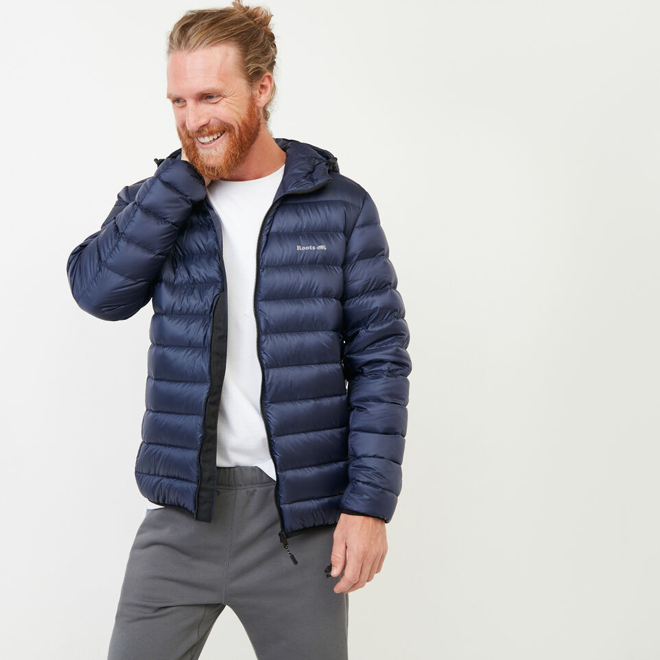 Roots-Men Our Favourite New Arrivals-Roots Packable Down Jacket-Navy Blazer-A