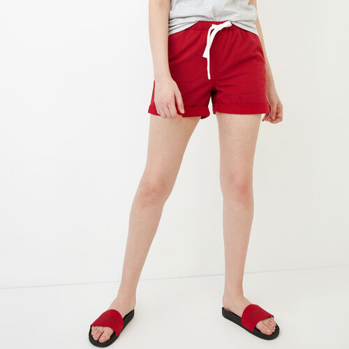 Roots-Women Bottoms-Woodland Short-Sage Red-A