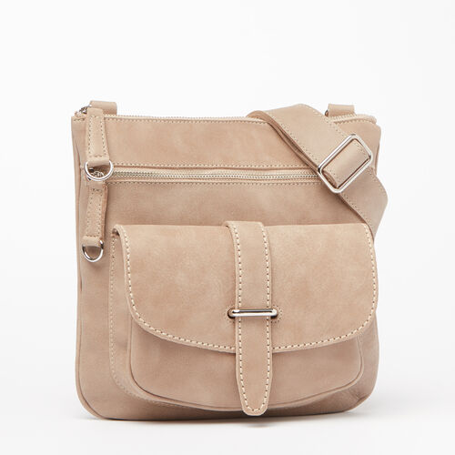 Roots-Leather Tribe Leather-Side Saddle Tribe-Sand-A