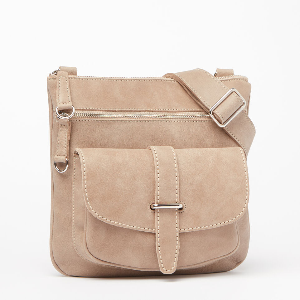 Roots-Leather Handbags-Side Saddle Tribe-Sand-A