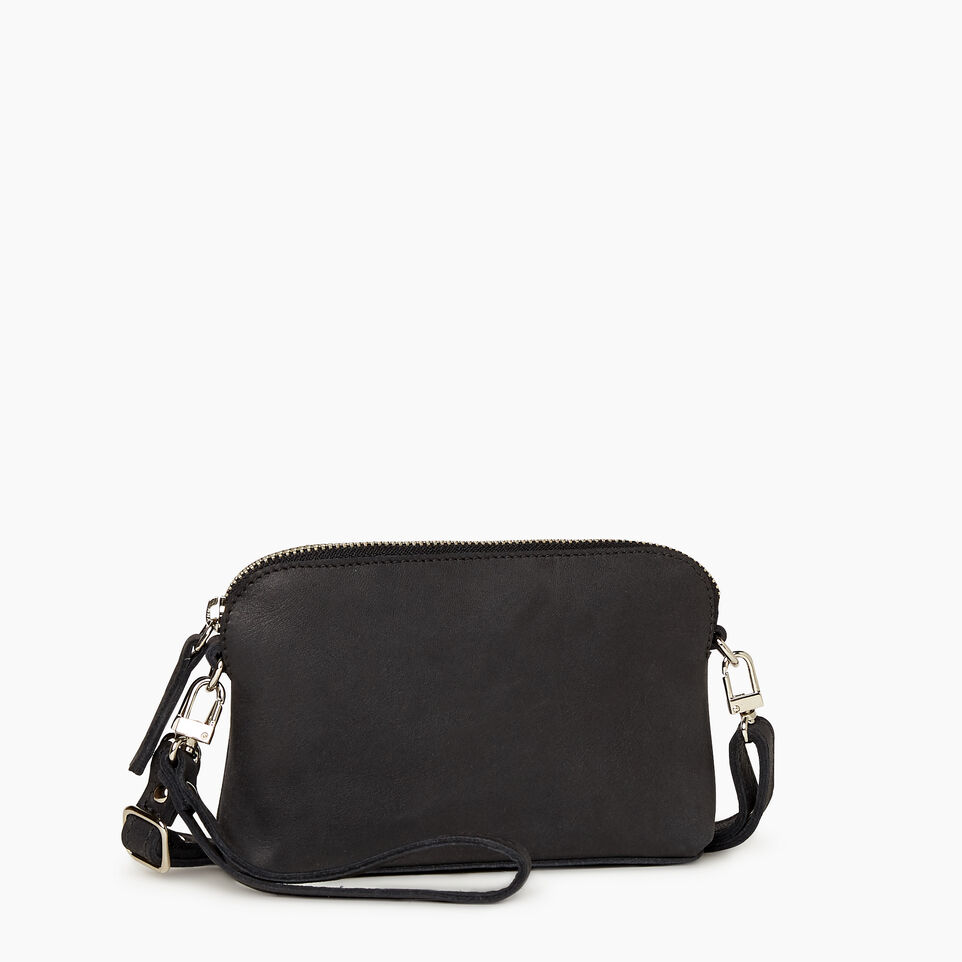 Roots-Leather New Arrivals-Christie Crossbody Tribe-Jet Black-C