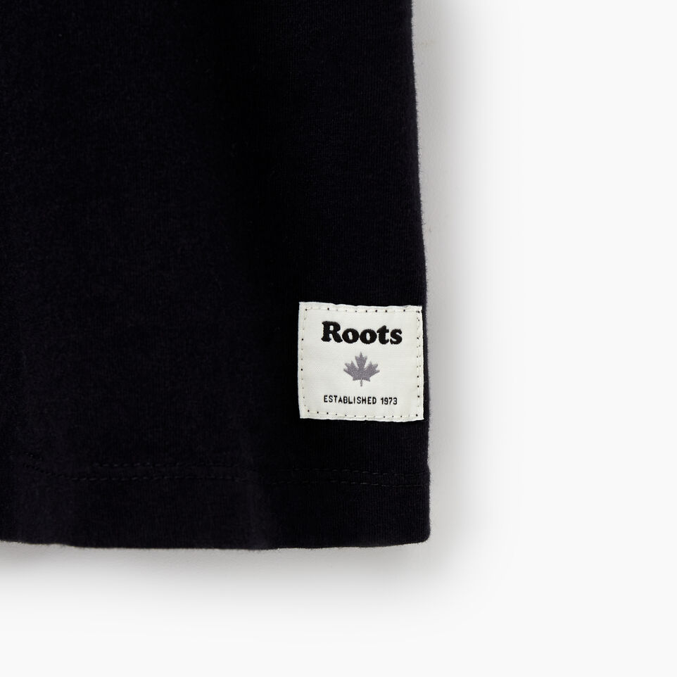 Roots-Women Graphic T-shirts-Womens Galewood T-Shirt-Black-D
