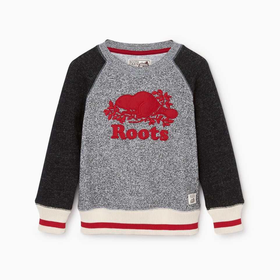 Roots-Kids Tops-Toddler Roots Cabin Crew Sweatshirt-Salt & Pepper-A