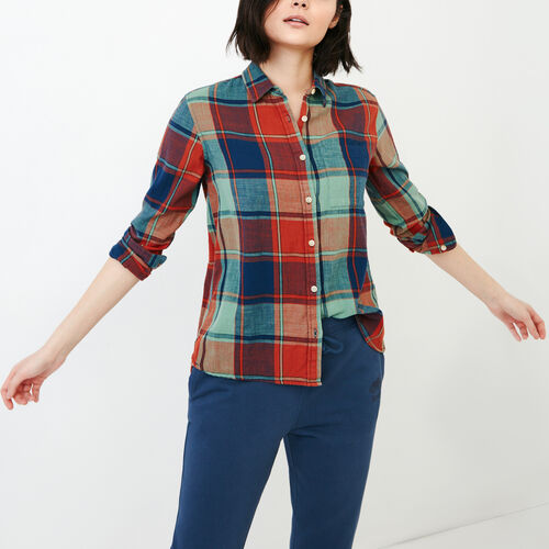 Roots-Women Our Favourite New Arrivals-All Seasons Relaxed Shirt-Jaffa Orange-A