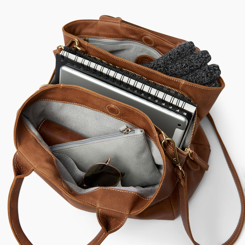 Roots-Leather  Handcrafted By Us Handbags-Mont Royal Bag-Natural-D