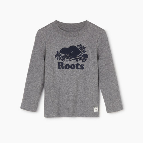 Roots-Kids Our Favourite New Arrivals-Toddler Original Cooper Beaver T-shirt-Medium Grey Mix-A