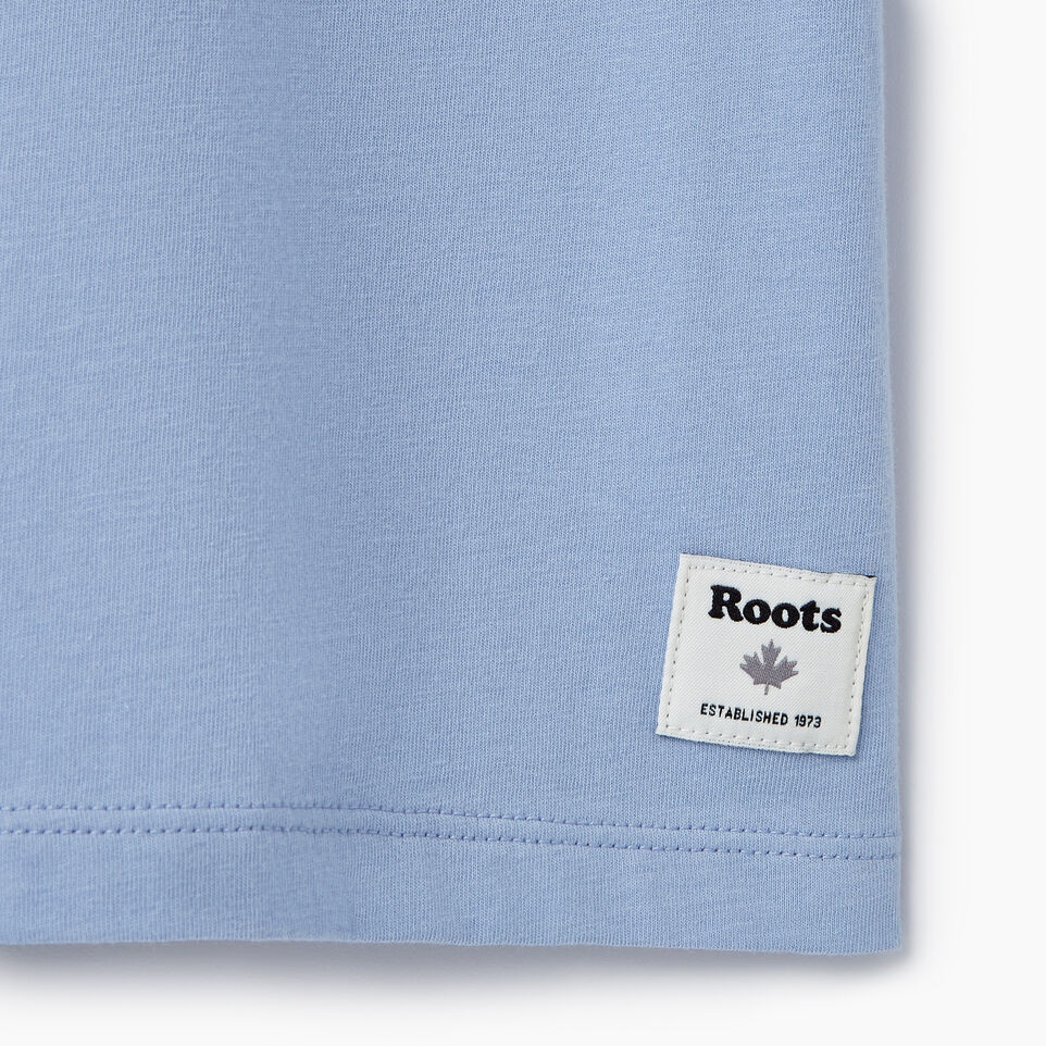 Roots-New For March Daily Offer-Womens Burnaby T-shirt-Bonita Blue-C