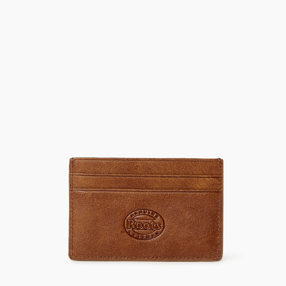 Roots-Women Categories-Card Holder-Champagne/ Natural-B