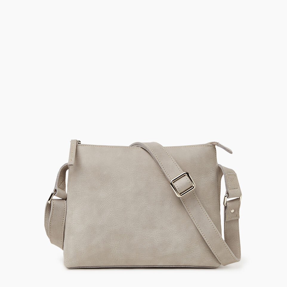 Roots-Women Leather-Journey Crossbody Tribe-Sterling Grey-C
