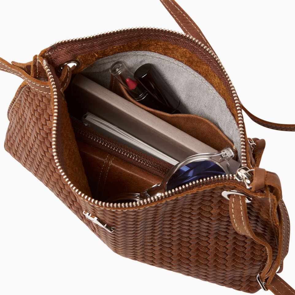 Roots-Leather  Handcrafted By Us Our Favourite New Arrivals-Edie Bag Woven-Natural-D