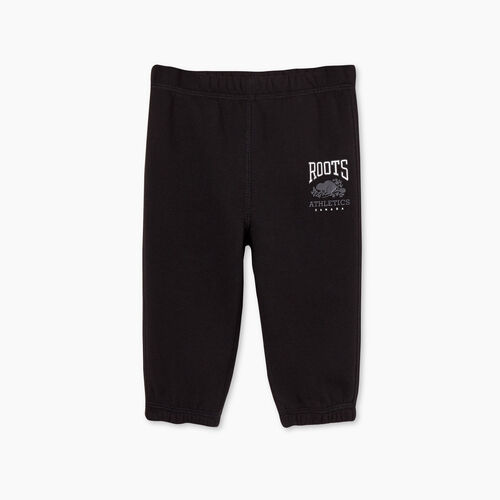 Roots-Kids Bottoms-Baby RBA Sweatpant-Black-A