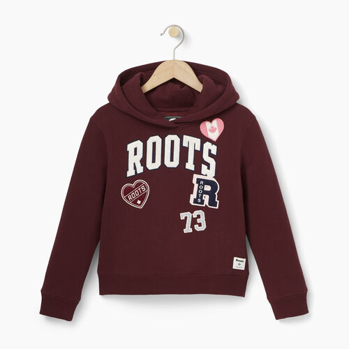 Roots-Kids Our Favourite New Arrivals-Girls Roots Patches Hoody-Northern Red-A