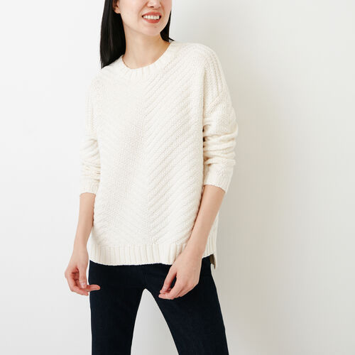 Roots-Women Sweaters   Cardigans-Elora Pullover Sweater-Ivory-A ffee36169