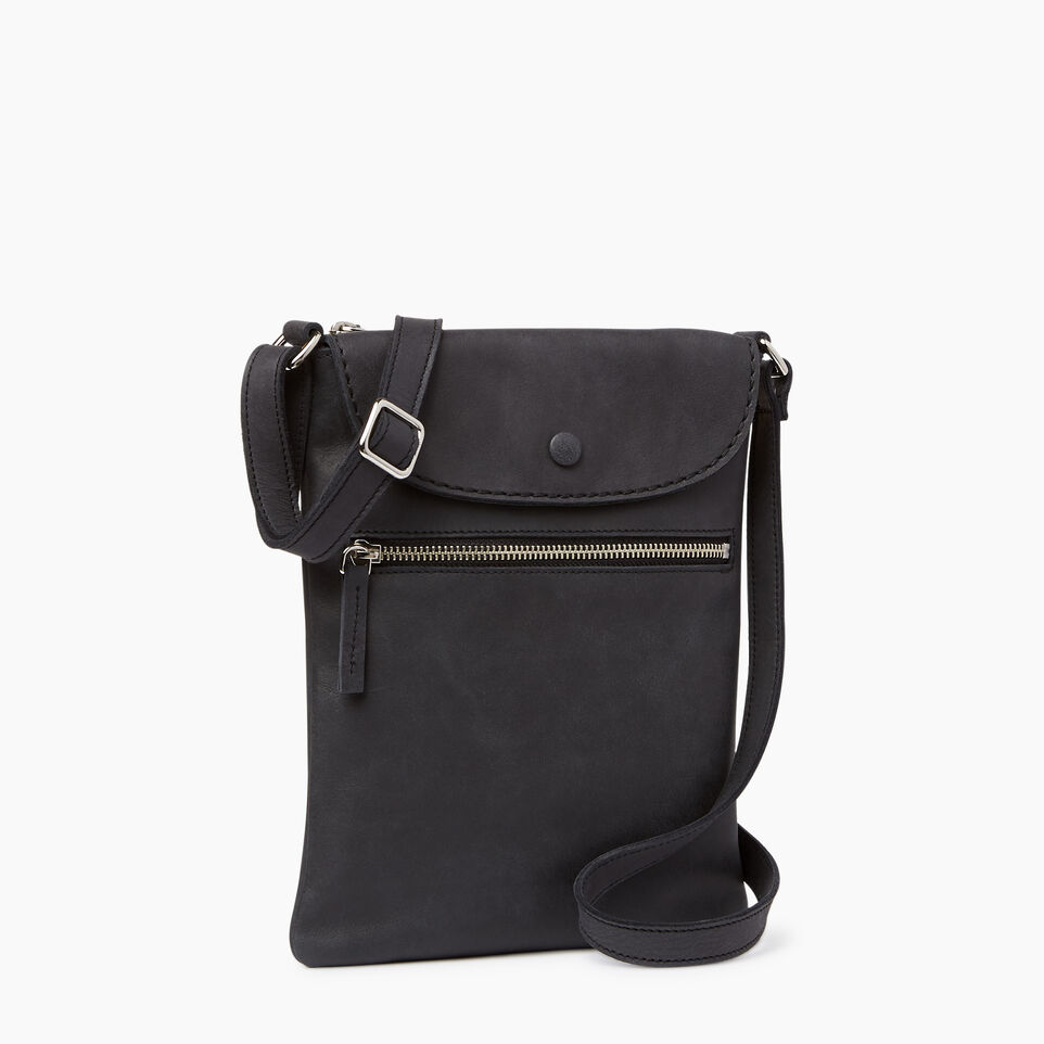 Roots-Leather Handbags-Riverdale Flat-Jet Black-A