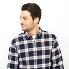 Roots-Men Clothing-Manning Flannel Shirt-Navy Blazer-E