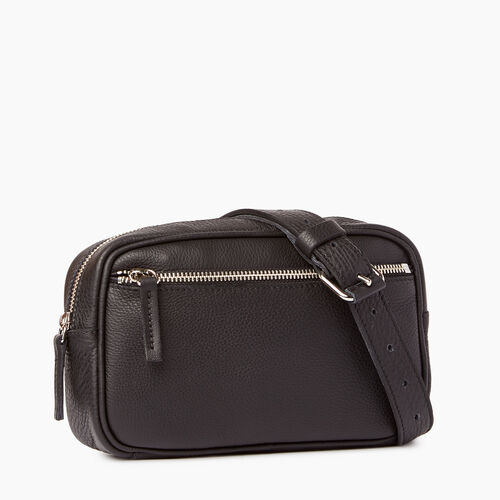 Roots-Leather Mini Leather Handbags-Roots Belt Bag-Black-A