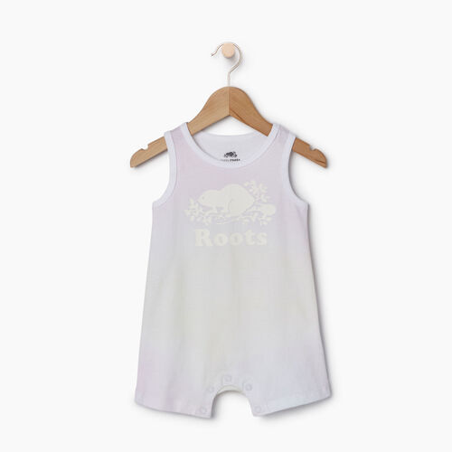 Roots-Kids Rompers & Onesies-Baby Watercolour Tank Romper-Ivory-A
