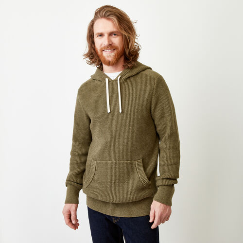 Roots-Men Sweaters & Cardigans-Baffin Shaker Hoody-Lichen Mix-A