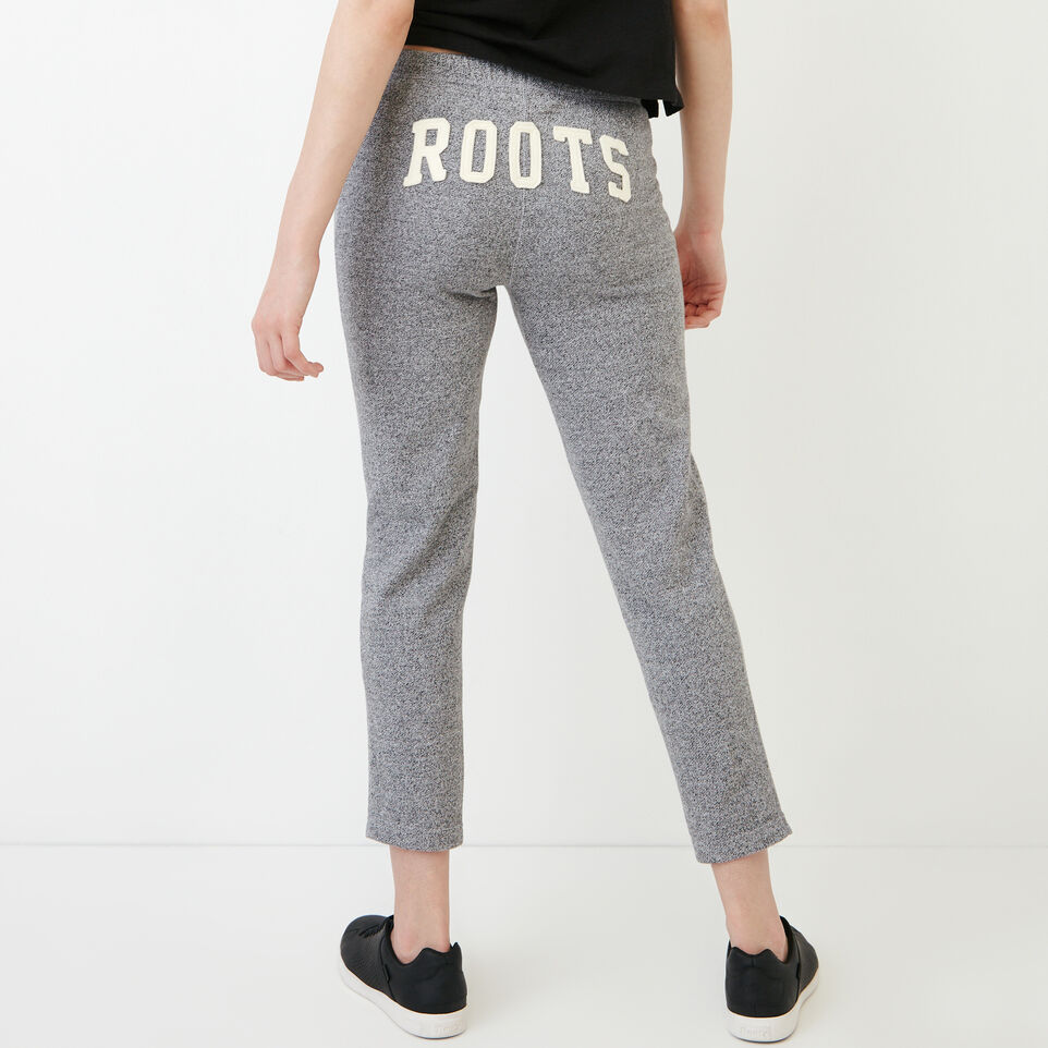 Roots-Clearance Women-Roots Ankle Sweatpant-Salt & Pepper-A