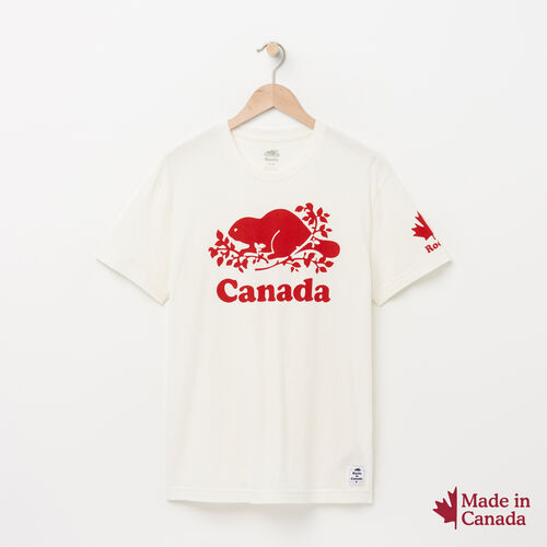 Roots-New For May Men-Mens Cooper Canada T-shirt-Pristine White-A