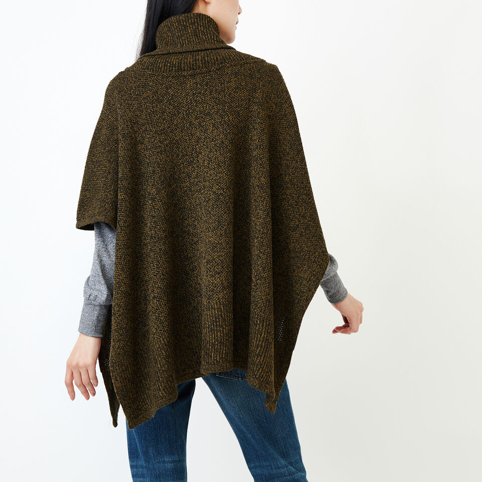 Roots-Women Categories-Nahanni Poncho-Loden Pepper-D