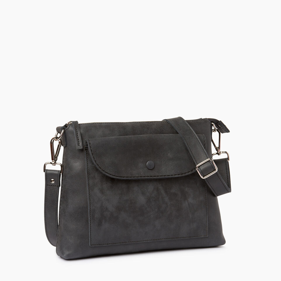 Roots-Leather Handbags-Richmond Crossbody-Jet Black-A