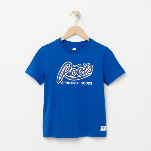Roots-Sale Boys-Boys Roots Sporting Goods T-shirt-Olympus Blue-A
