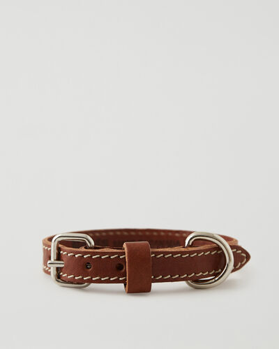 Roots-Leather Dog Accessories-Extra Small Dog Collar Veg-Mahogany-A