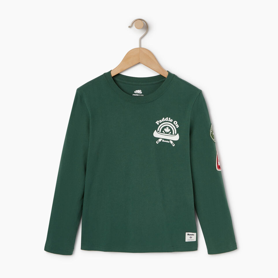 Roots-Kids Our Favourite New Arrivals-Boys Paddle On T-shirt-Hunter Green-A