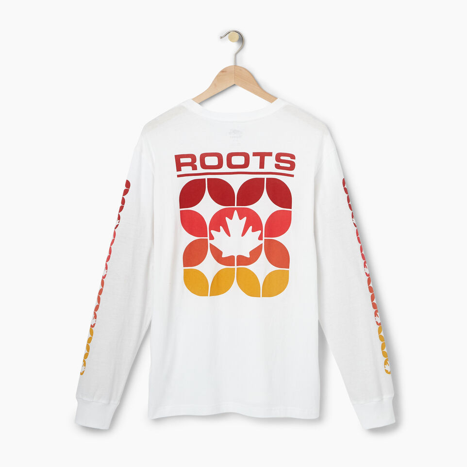 Roots-Men Our Favourite New Arrivals-Mens 73 Sport Long Sleeve T-shirt-White-B