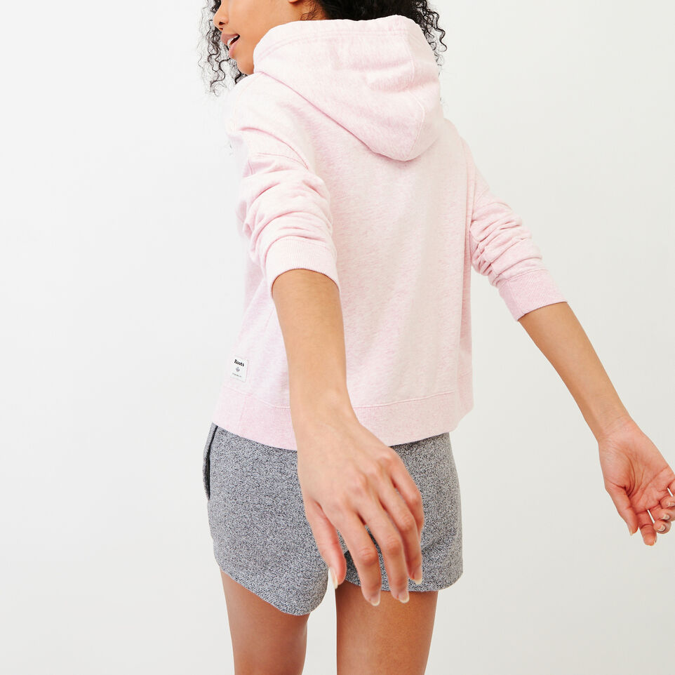 Roots-Women Our Favourite New Arrivals-Melange Terry Hoody-Pink Mist Mixpink-E