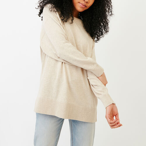 Roots-Women Categories-Hawthorn Sweater-Flaxseed Mix-A