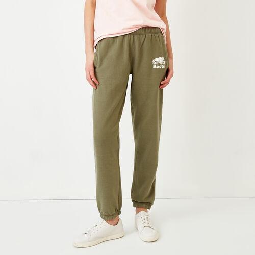 Roots-Women Sweatpants-Original Sweatpant-Lichen-A