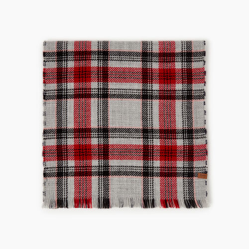 Roots-New For October Plaids-Cumberland Scarf-Cabin Red-A
