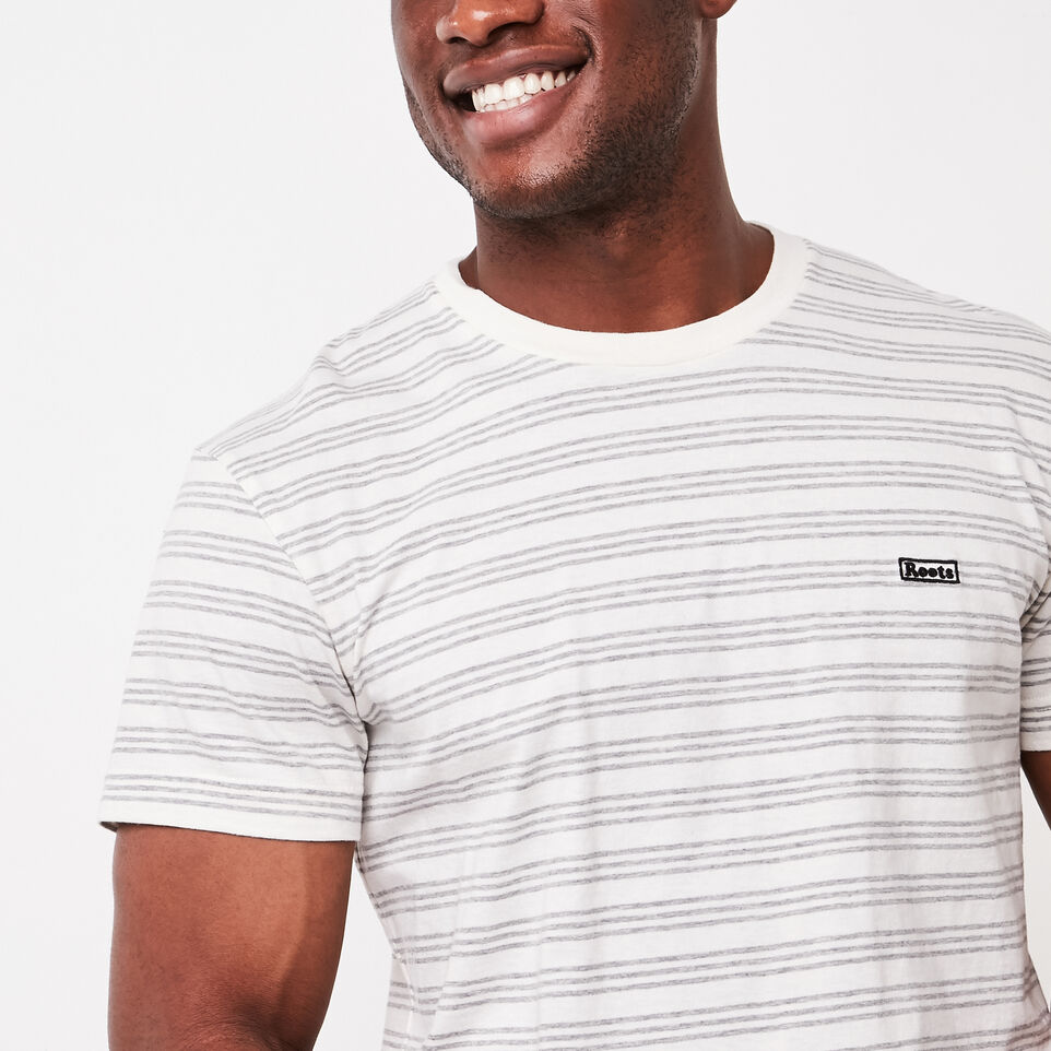 Roots-undefined-Mens Cooper Stripe T-shirt-undefined-C