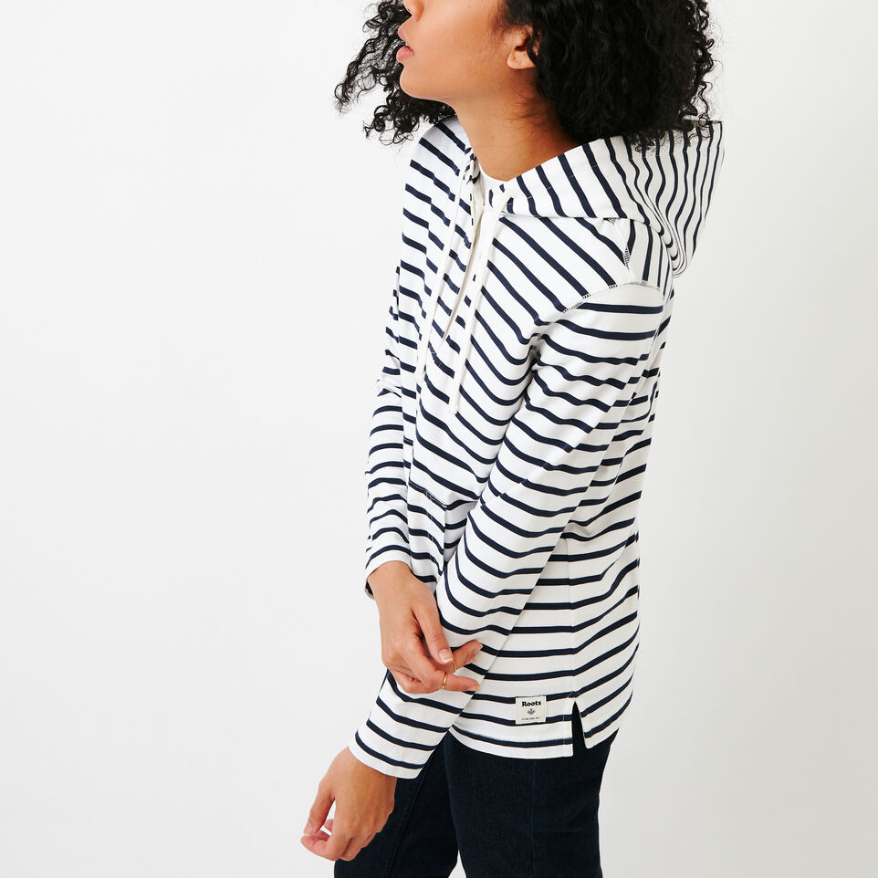 Roots-Women Our Favourite New Arrivals-Glenbow Hoody-White-C