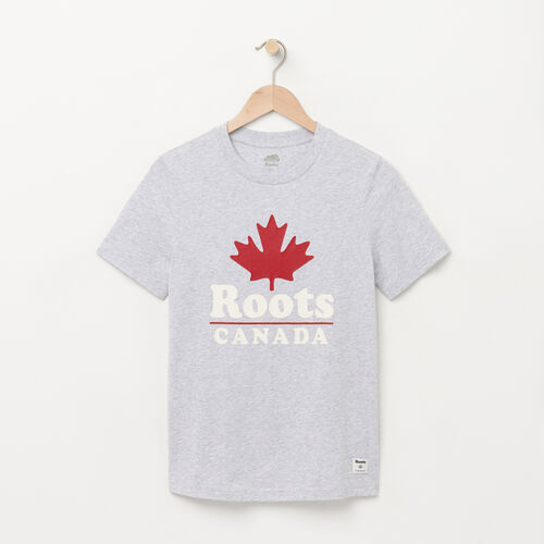 Roots-Women Graphic T-shirts-Womens Canada Cabin T-shirt-Snowy Ice Mix-A