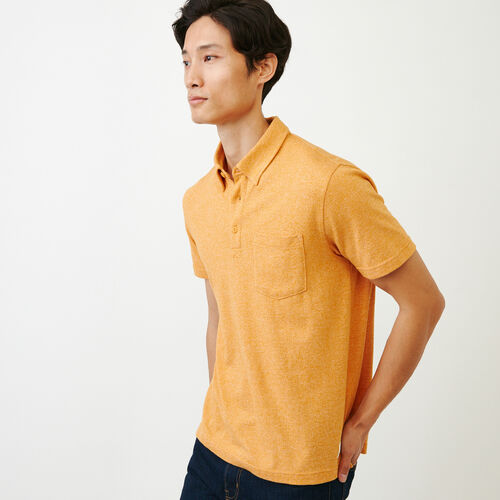 Roots-Men Our Favourite New Arrivals-Jersey Peppered Polo-Squash Yellow Pepper-C