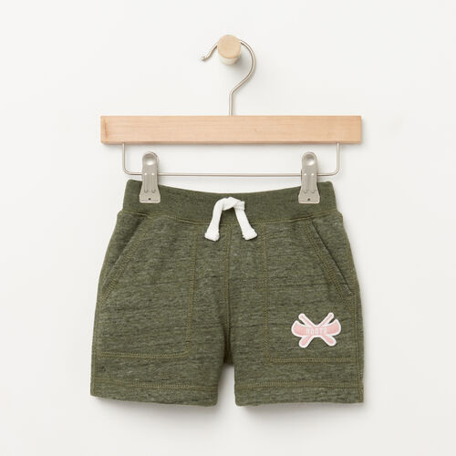 Roots-Kids Bottoms-Toddler Camp Short-Duck Green-A