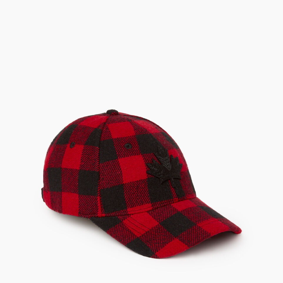 Roots-undefined-Park Plaid Leaf Baseball Cap-undefined-B